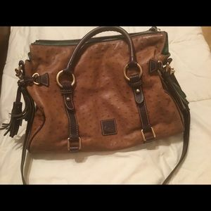 Dooney Bourke Florentine Ostrich Leather Handbag
